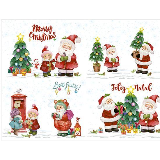 Slim Paper Decoupage Natal Litoarte 47,3x33,8 SPLN-006 Papai Noel