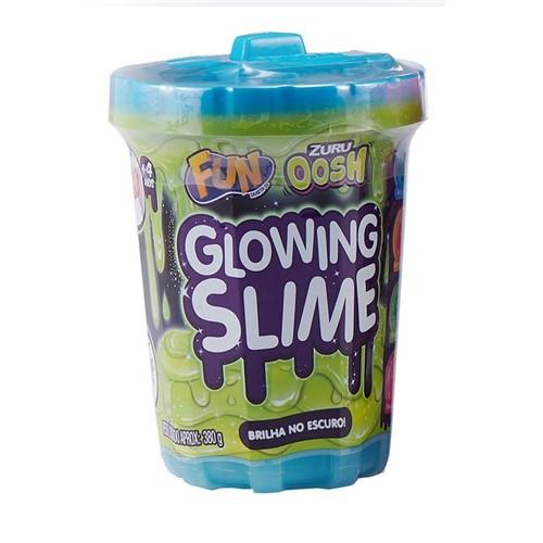 Slime Brilha no Escuro - Azul Raio de Luz - Fun - FUN
