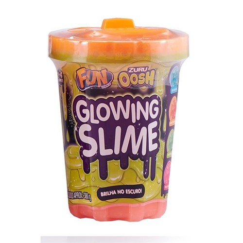 Slime Brilha no Escuro - Laranja Radioativo - Fun - FUN