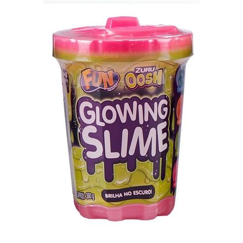 Slime Brilha no Escuro - Rosa por do Sol - Fun - FUN