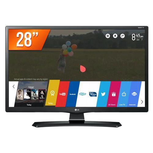 """Smart TV LED 28"""" HD LG 28MT49S-PS 2 HDMI USB Wi-Fi Integrado Conversor Digital"""