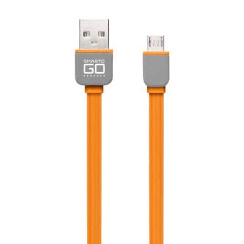 Smartogo Cabo Micro USB Flat 2 Metros Laranja