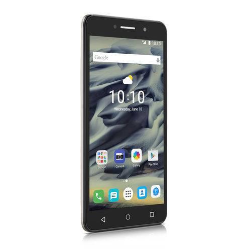 Smartphone Alcatel PIXI4 6 HD Dourado, Tela 6POL HD, Memoria 8GB, Cameras com Flash 13MP+