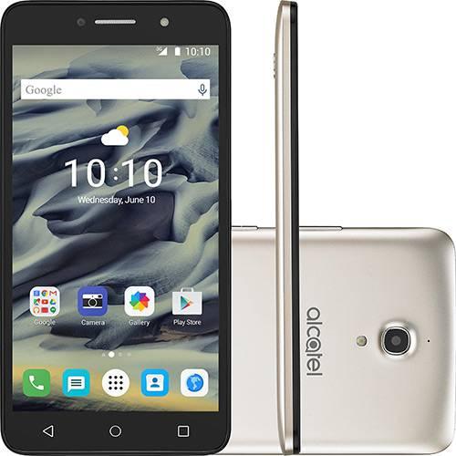 "Smartphone Alcatel Pixi4 Dual Chip Android 5.1 Lollipop Tela 6"" Quad Core 8 GB 3G Wi-Fi Câmera 13MP - Dourado"