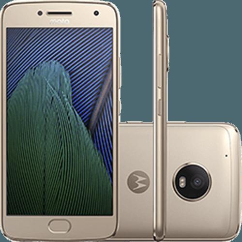 "Smartphone Moto G 5 Plus Dual Chip Android 7.0 Tela 5.2"" 32GB 4G Câmera 12MP - Ouro"