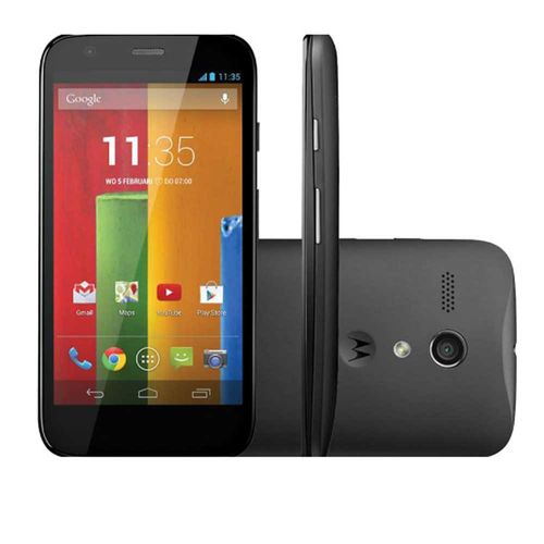 "Smartphone Moto G XT1032 8GB, Single, 3G, Android, Câm. 5MP, Tela 4.5"", Wi-Fi Preto"