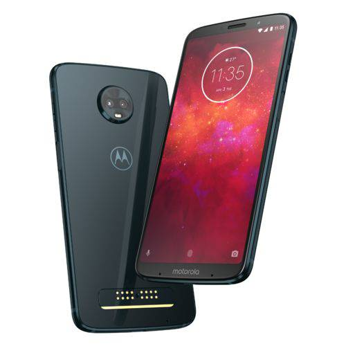 "Smartphone Moto Z3 Play Style Edition XT1929-5 64GB Octacore Tela 6"" Câmera Dupla 12MP+5MP Índigo"