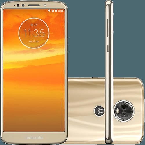 "Smartphone Motorola Moto E5 Plus Dual Chip Android Oreo - 8.0 Tela 6"" Quad-Core 1.4 GHz 16GB 4G Câmera 12MP - Ouro"