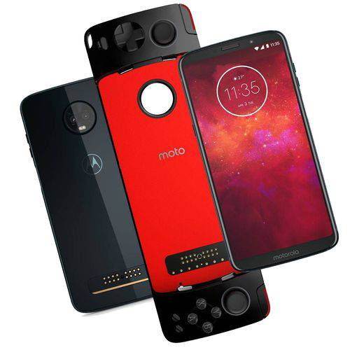 Smartphone Motorola Moto Z3 Play Gamepad Edition XT1929/GPI 6'', 64GB, Câmera 12MP + 5MP Dual