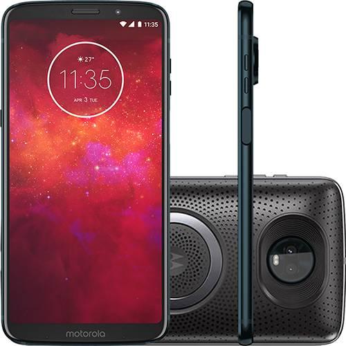 "Smartphone Motorola Moto Z3 Play - Stereo Speaker Edition Dual Chip Android Oreo - 8.0 Tela 6"" Octa-Core 1.8 GHz 64GB 4G Câmera 12 + 5MP (Dual Traseira) - Índigo"