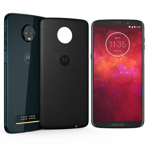 "Smartphone Motorola Moto Z3 Play Style Edition Dual Chip Android Oreo - 8.0 Tela 6"" Octa-Core 1.8 GHz 64GB 4G Câmera 12 + 5MP (Dual Traseira) - Índigo"