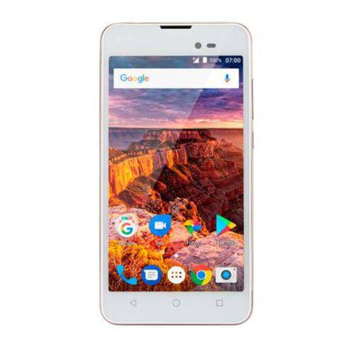 "Smartphone Ms50l Tela 5"" Memória 1gb Multilaser Dourado"