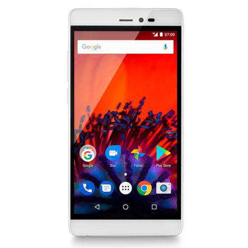 Smartphone MS60F 4G Tela 5,5 Impressão Digital 1GB RAM Android 7 Multilaser Dourado/Branco - P9056