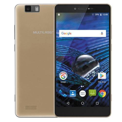 Smartphone Ms70 Multilaser 64gb Octacore 5.85 3gb Raw Dourado Nb265