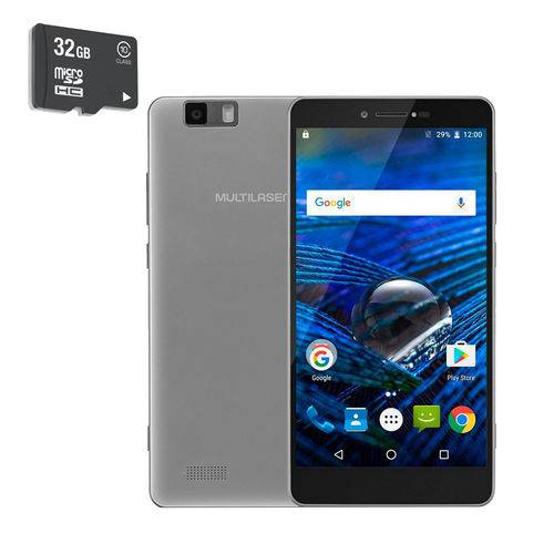 Smartphone Ms70 Prata + Micro Sd 32gb P9036 - Multilaser