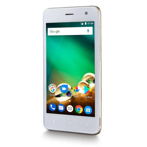 Smartphone Multilaser 4g 8gb Wi-Fi Camera 8.0mp Android Dual Chip Dourado Ms45 P9063