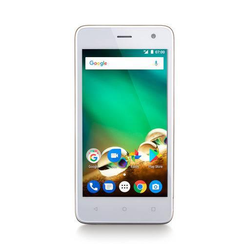 Smartphone Multilaser MS45 4G 1GB Dourado Tela 4.5 Câmera 5MP+8MP Quad Core 8GB Android 7.0 - P9063