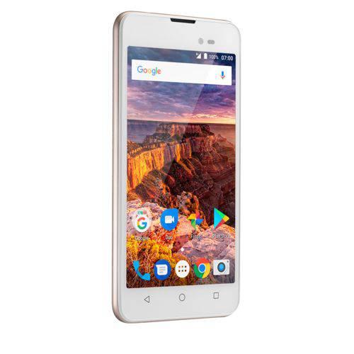 Smartphone Multilaser MS50L 3G QuadCore 1GB RAM Tela 5 Dual Chip Android 7 Dourado - P9052