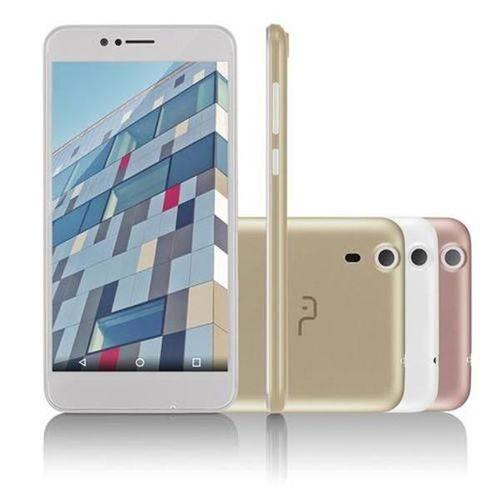 "Smartphone Multilaser MS55 Colors BrancoTela 5,5"" Câmera 5.0 MP+8.0MP 3G Quad Core 8GB + 16GB Sd Car"