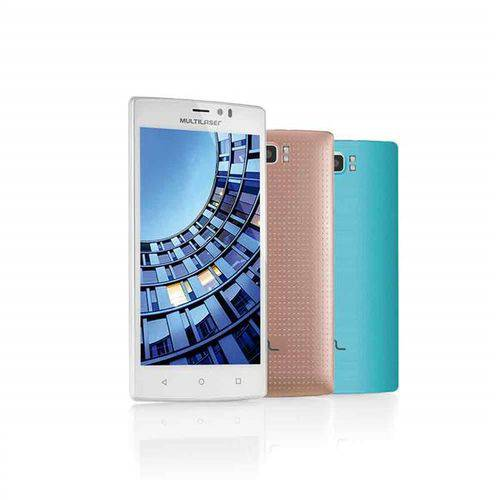 Smartphone Multilaser Ms60 4g Quadcore 2gb Ram Tela 5,5 Dual Chip Android 5 Branco + Micro Sd 16 Gb - Nb231
