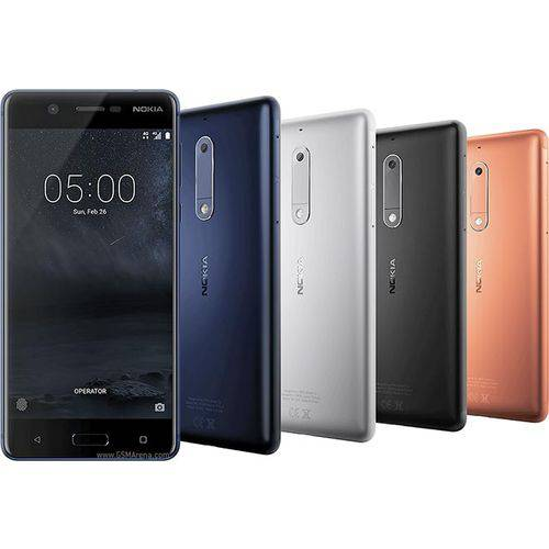 Smartphone Nokia 5 Dual Chip Android 7.1 Tela 5.2 16GB 4G Camera 13MP - Azul