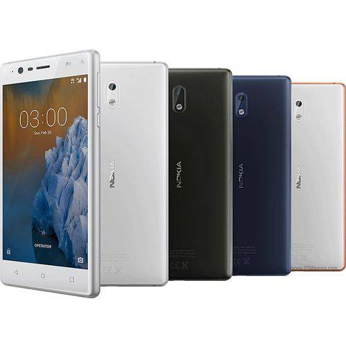 Smartphone Nokia 3 Dual Chip Android 7.0 Tela 5 16GB 4G Camera 8MP - Azul
