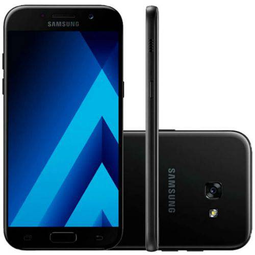 """Smartphone Samsung Galaxy A7 2017 Preto Dual Chip 64GB Tela de 5,7"""" Câmera 16M"""