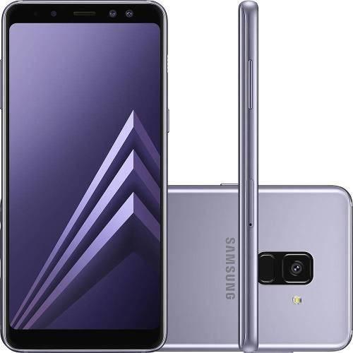 "Smartphone Samsung Galaxy A8 64gb + Capa e Película Dual Chip Android 7.1 Tela 5.6"" Octa-core 2.2ghz4g Câmera 16mp - Ametista"