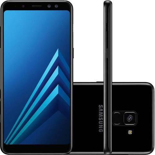 "Smartphone Samsung Galaxy A8 64gb + Capa e Película Dual Chip Android 7.1 Tela 5.6"" Octa-core 2.2ghz4g Câmera 16mp - Preto"