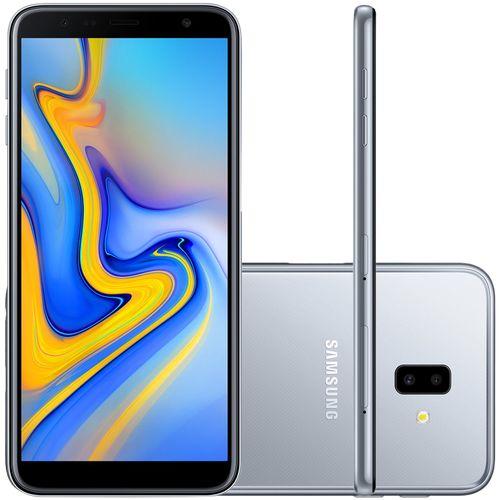 Smartphone Samsung Galaxy J6+ 32GB Dual Chip Tela 6'' Dual Câmera 13MP+5MP Frontal 8MP Prata
