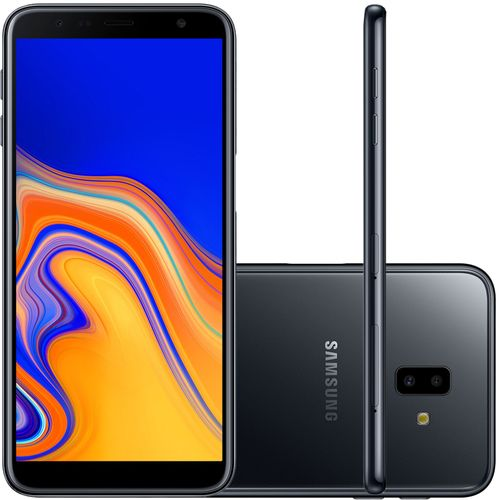 Smartphone Samsung Galaxy J6+ 32GB Dual Chip Tela 6'' Dual Câmera 13MP+5MP Frontal 8MP Preto