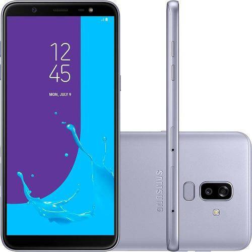 "Smartphone Samsung Galaxy J8 64gb + Capa e Película Dual Chip Android 8.0 Tela 6"" Octa-core 1.8ghz 4g Câmera 16mp F1.7 + 5mp F1.9 (dual Cam) - Prata"