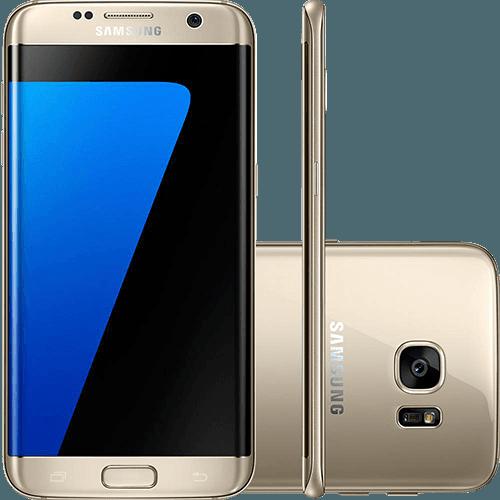 """Smartphone Samsung Galaxy S7 Edge Android 6.0 Tela 5.5"""" 32GB 4G Câmera 12MP - Dourado"""