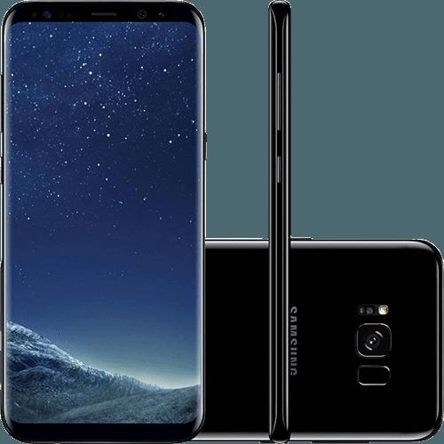 "Smartphone Samsung Galaxy S8+ Dual Chip Android 7.0 Tela 6.2"" 128GB 4G Câmera 12MP - Preto"