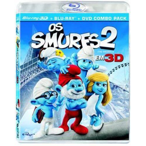 Smurfs 2, os (Blu-Ray 2d+Blu-Ray 3D+DVD)