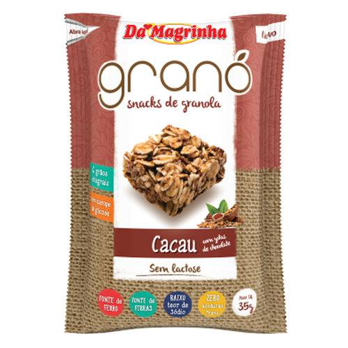 Snack de Granola Cacau Gotas 35g - da Magrinha