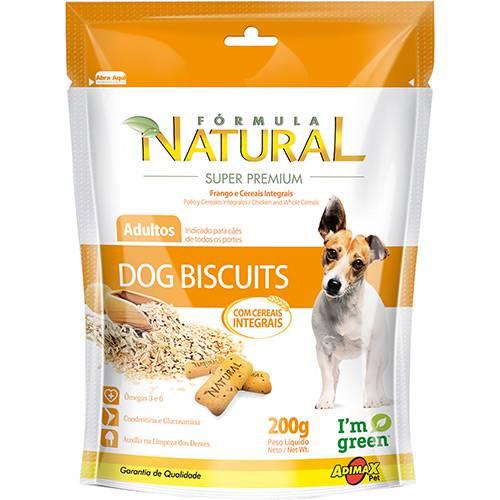 Snack Fórmula Natural Dog Biscutis Frango e Cereais Integrais 200g