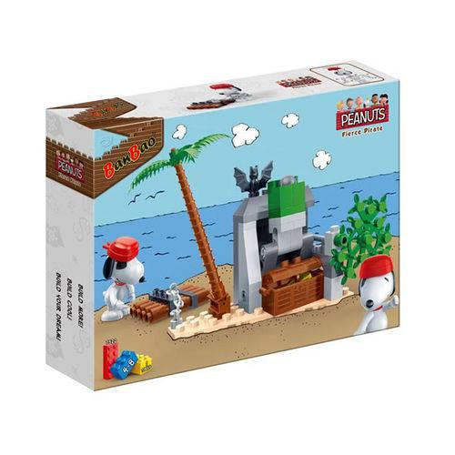 Snoopy Fierce Pirate Jangada 68 Peças - Banbao