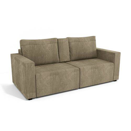 Sofa Retratil Virtus 3 Lugares Caramelo