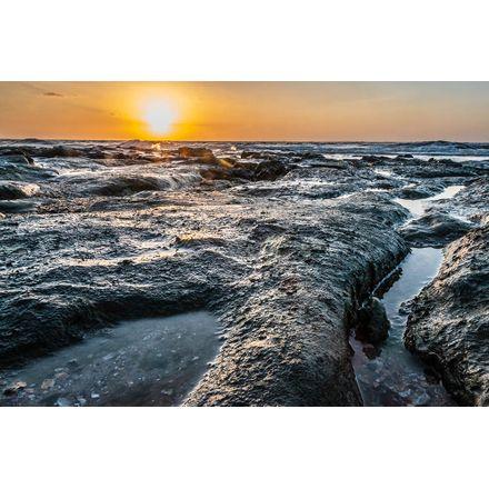 Gravura para Quadros – Arte Sol na Praia - 45 X 30 Cm - Papel Fotográfico Fosco