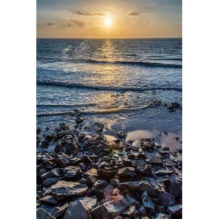Sol Sob Pedras - 30 X 45 Cm - Papel Fotográfico Fosco