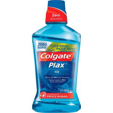 Solução Bucal Colgate Plax Ice Leve 500ml e Pague 350ml Cx. C/ 12 Un.