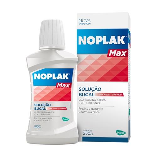 Solução Bucal Noplak Max com Flúor Sem Álcool com 250ml