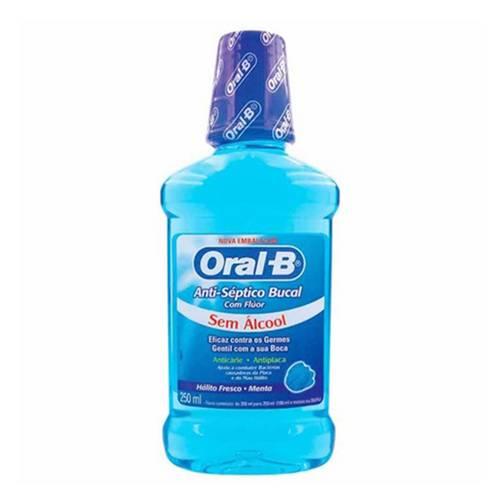Solução Bucal Oral B Sem Álcool Menta com 50 Ml