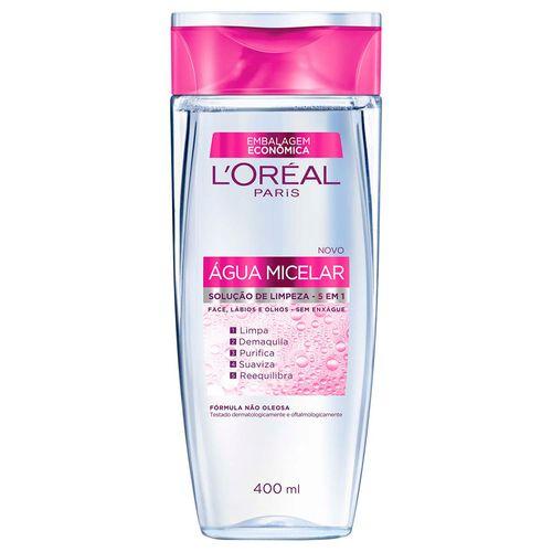 Solução de Limpeza Facial L'Oréal Água Micelar 400ml
