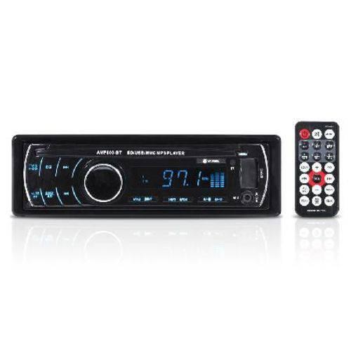 Som Automotivo Auto Rádio Mp3 Player USB/sd/fm/aux/bluetooth 4x45w com Controle Remoto Amp800-bt Vin