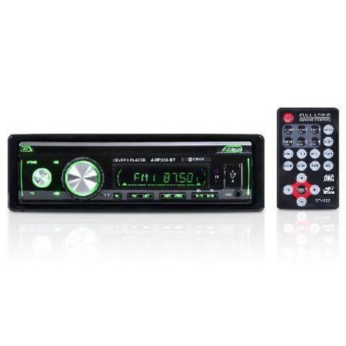 Som Automotivo Auto Rádio Mp3 Player Usb/sd/fm/aux/bluetooth 4x45w com Controle Remoto Amp900-bt