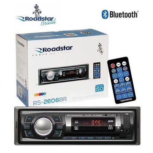 Som Automotivo Radio Mp3 para Carro Roadstar RS-2606br Bluetooth USB Sd