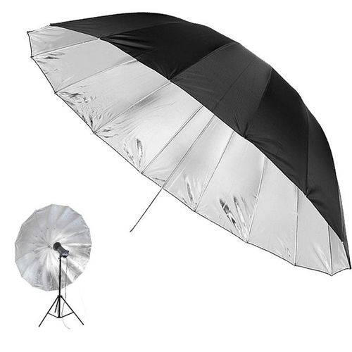 Sombrinha para Estúdio Fotográfico Rebatedora Prata - 145cm