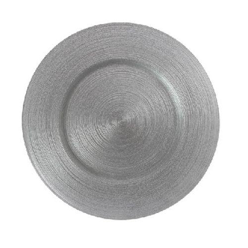 Sousplat de Vidro Circle Silver 33cm - Circlea Silver
